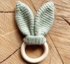 Handgemaakte bijtring Mint Groen