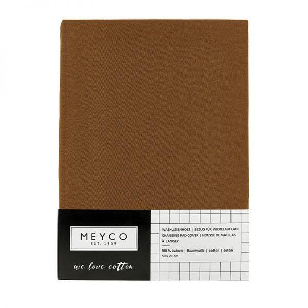 Meyco aankleedkussenhoes camel verpakking