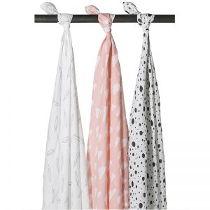 Meyco hydrofiele doek roze voorkant