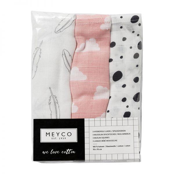 Meyco hydrofiele luiers roze verpakking