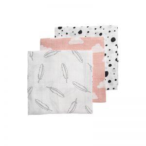 Meyco hydrofiele luiers roze voorkant