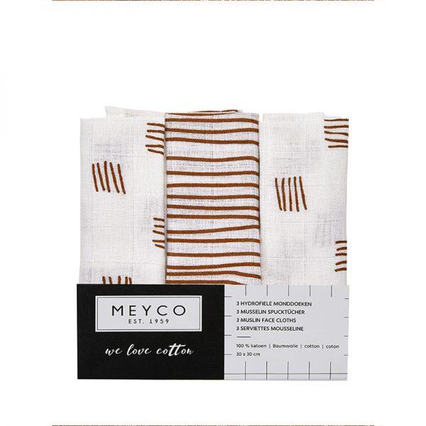 Meyco hydrofiele monddoekjes camel verpakking