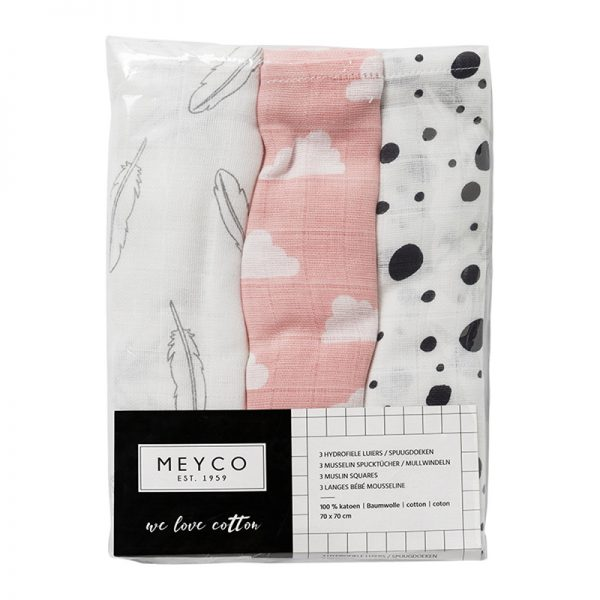 Meyco hydrofiele monddoekjes roze verpakking-1