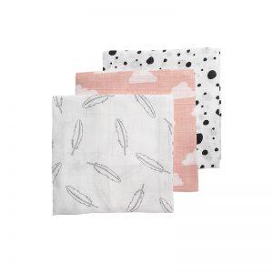 Meyco hydrofiele monddoekjes roze voorkant