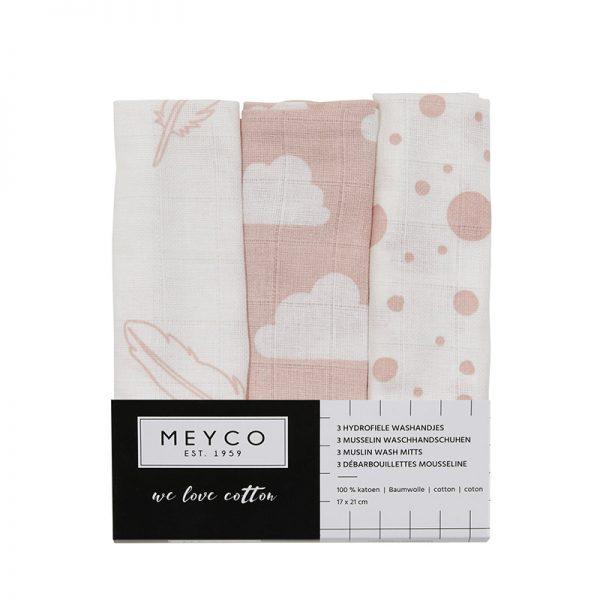 Meyco washandjes roze verpakking